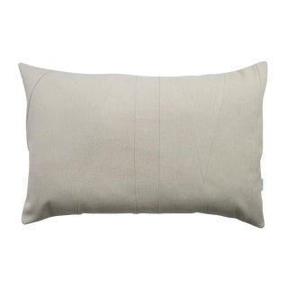Beige Lumbar Throw Pillow