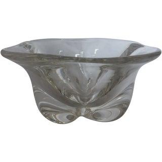 Vintage 1960s Swedish Orrefors Glass Bowl