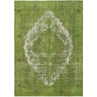 "Vintage Turkish Overdyed Rug - 9'2"" x 12'8"""