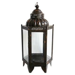 Metal & Glass Large Lantern