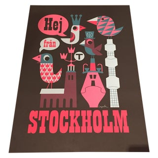 Graphic Pop Stockholm Print