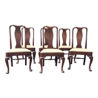 Kittinger Queen Anne Dining Chairs - Set of 6