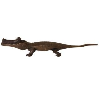 Brass Alligator Nut Cracker