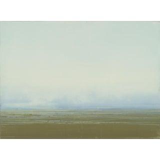 Coastal Redux #188, 2015, Oil, printer's ink, glue medium on panel by Dan Gualdoni.