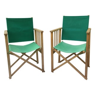Vintage Hyllinge Mobler Director's Chairs - Pair