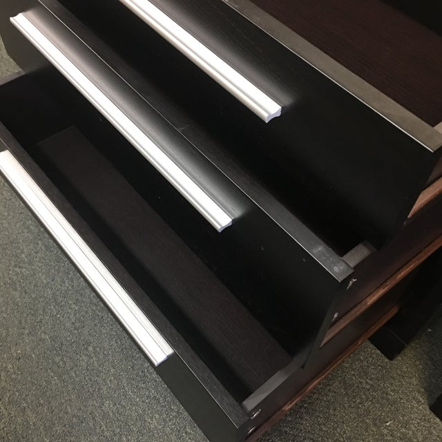 Contemporary 3-Drawer Nightstands - A Pair - Image 7 of 8