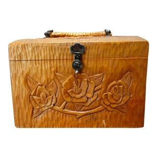 Mexican Carved Wooden Handbag