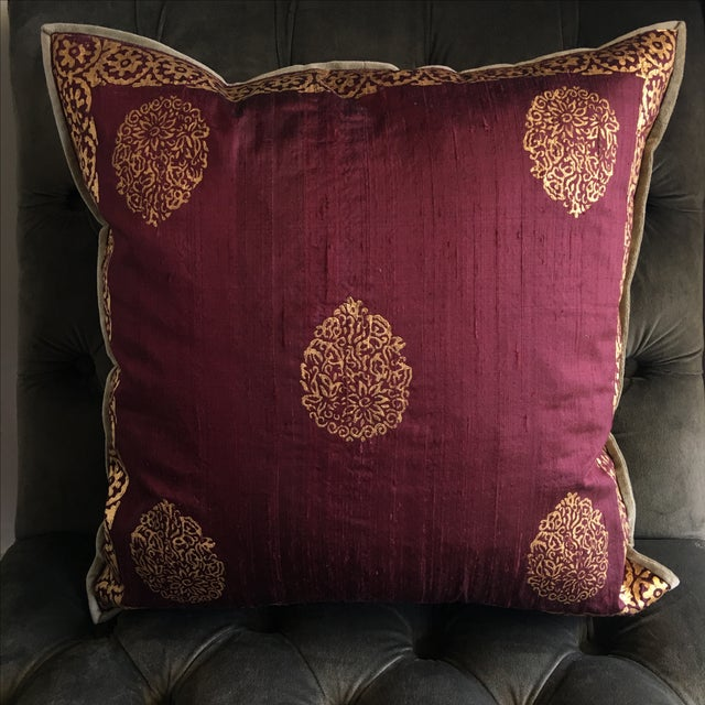 Image of Luxury Silk Blockprint Pillow