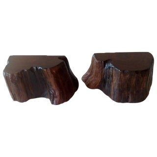 Mid-Century Redwood Bookends