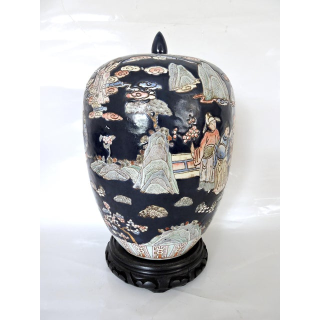 Large Blue Figural Themed Ginger Jar - Image 2 of 9