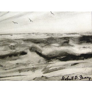 Robert Frary Modernist Seascape Watercolor