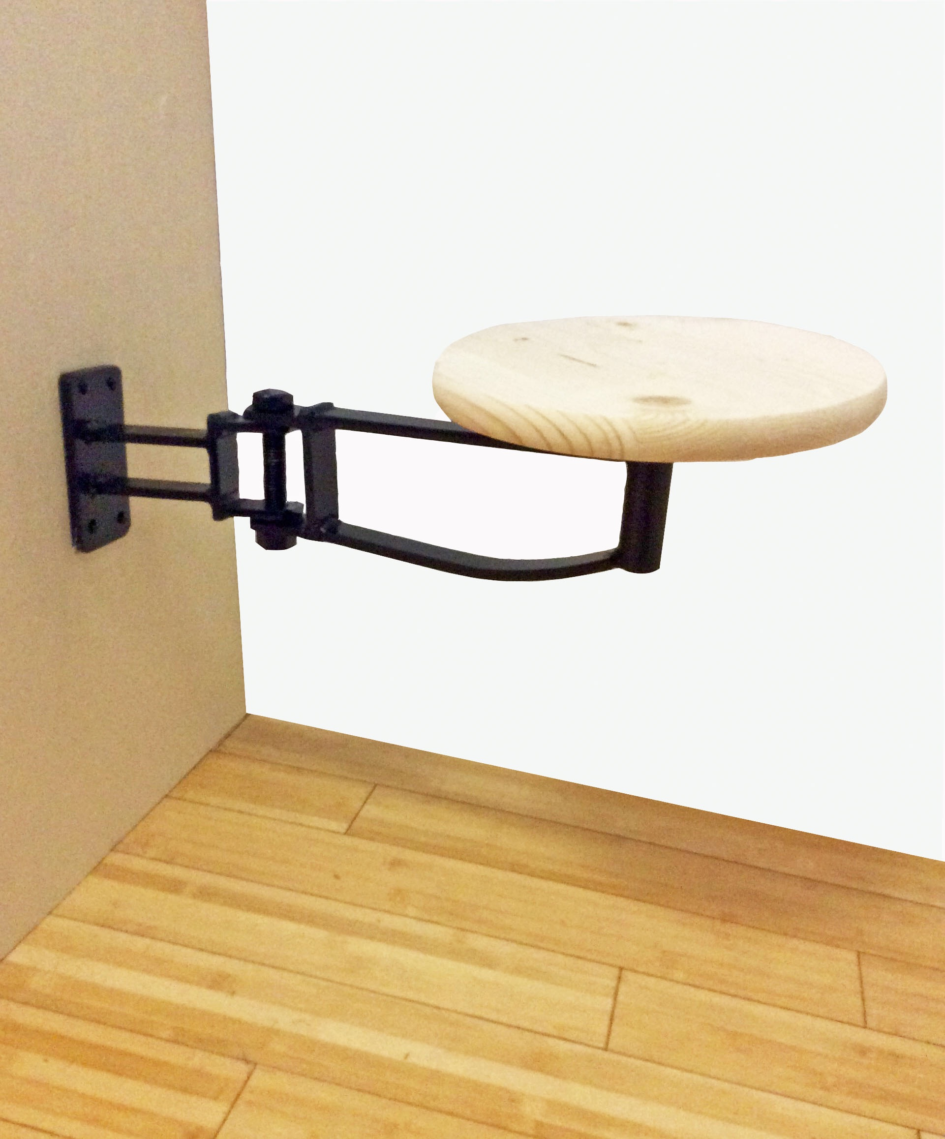 Industrial Swing Out Arm Stool Chairish