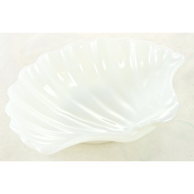 Milk Glass Shell Bowl - Image 2 of 4