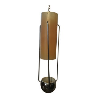 Vintage Mid Century Modern 1-Piece Chrome Hanging Lamp & Planter