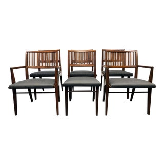 DREXEL COUNTERPOINT Mid Century Modern Mahogany Dining Chairs - Set of 6