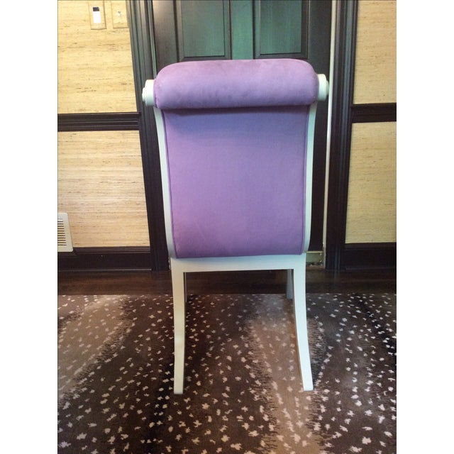 Purple Ultra Suede Chairs - Set of 6 - Image 5 of 6