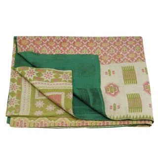 Multicolor Vintage Kantha Throw