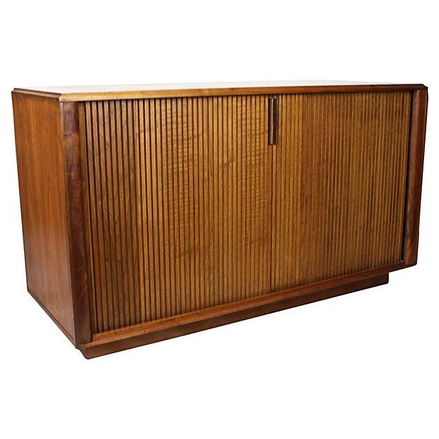 Danish Modern Teak Tambour Door Sideboard - Image 3 of 5