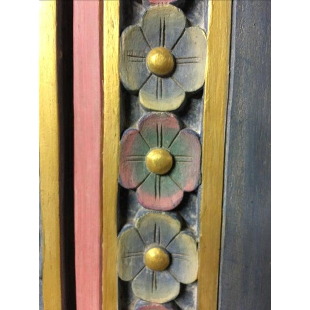 Balinese Hand Carved Sealife Motif Door Panels - Image 9 of 9