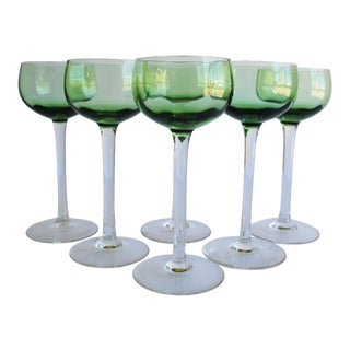 Vintage Wine Glasses - Set of 6