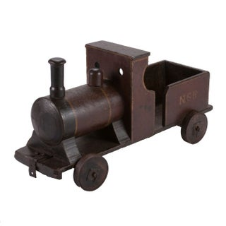 Circa 1880 England Painted Wooden Toy Train