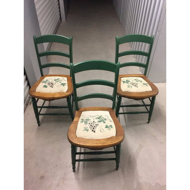 Antique Kitchen Table With Hand Painted Chairs - Set of 5 - Image 2 of 10
