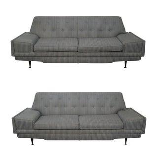 Gray Mid-Century Modern Sofas - A Pair