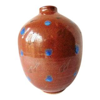 Brown Glazed Pottery Vase