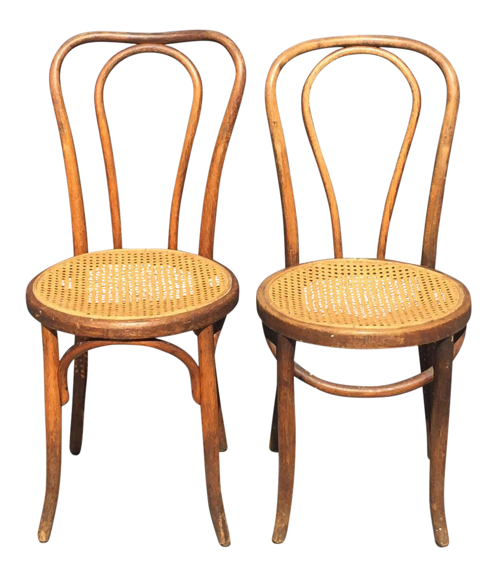 Fischel Thonet Style Bentwood Chairs   A Pair