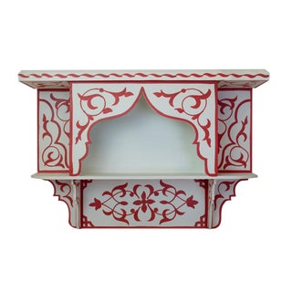 Red & White Moroccan Wall Shelf