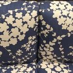 Image of Quadrille Linen Upholstered Banquette Sofa
