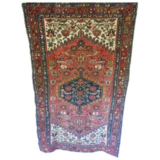 Kurdish Village Antique Persian Rug - 4′2″ × 6′10″