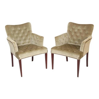 Hickory Furniture Mid-Century Modern Style Bergeres - a Pair