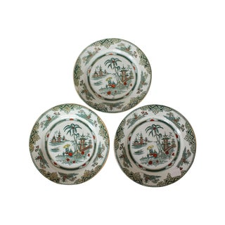 Antique Chinoiserie Holland Plates - Set of 3