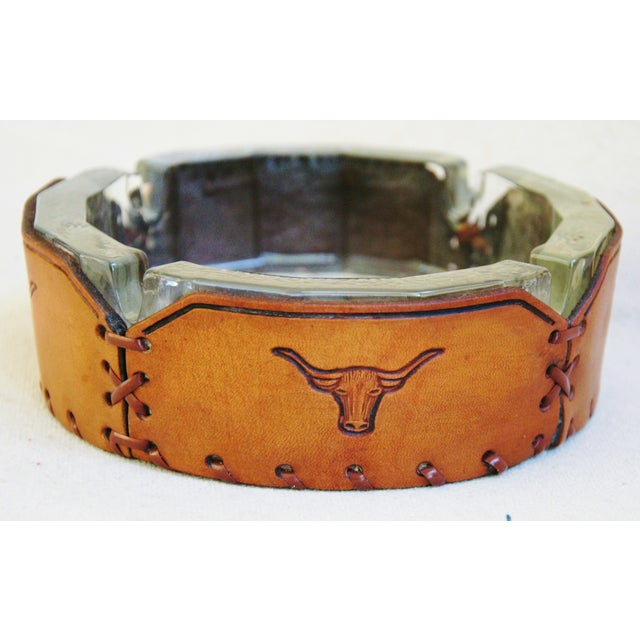 Embossed Leather Texas Longhorn Ashtray - Image 2 of 7