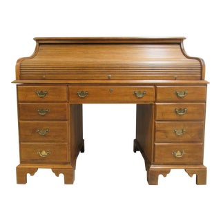 Ethan Allen Roll Top Writing Desk