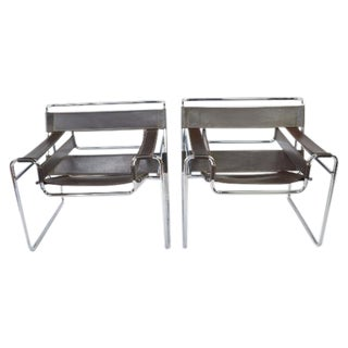 ReproductionWassily Chairs by Marcel Breuer - Pair