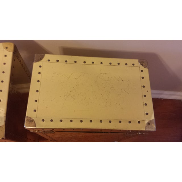 Studded Brass Trunk Sidetables - A Pair - Image 8 of 9