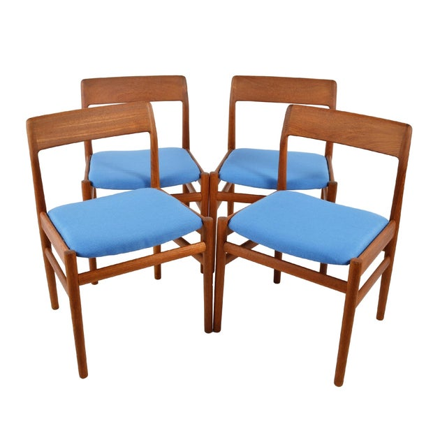 Mid Century Teak Dining Chairs - Set of 4 - Image 1 of 6