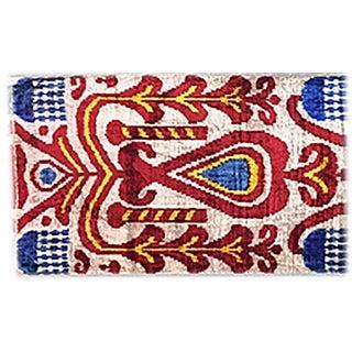 Bohemian Silk Velvet Ikat Pillow