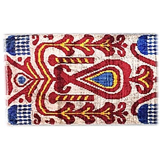 Bohemian Silk Velvet Ikat Pillow