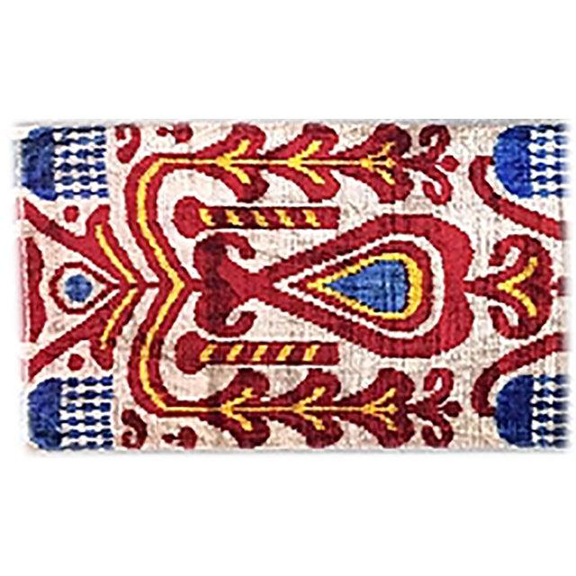 Image of Bohemian Silk Velvet Ikat Pillow