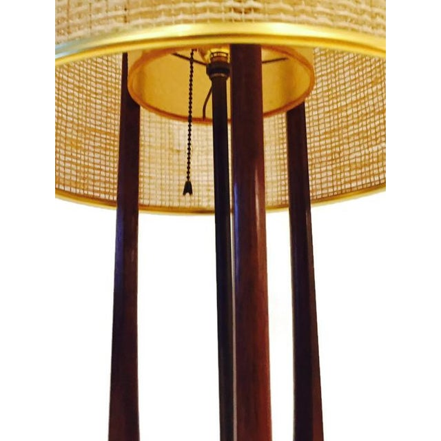 Mid-Century Atomic Walnut Console Lamp - Image 5 of 8
