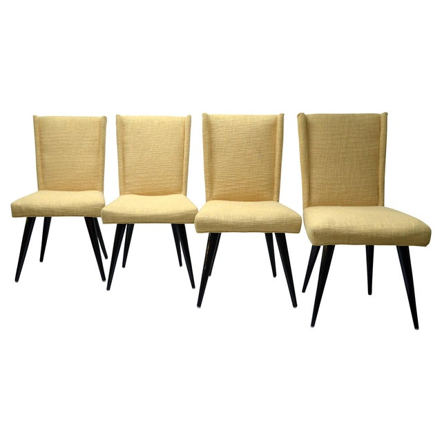 Mid century modern dining chairs set of 4 chairish for Modern dining chairs ireland