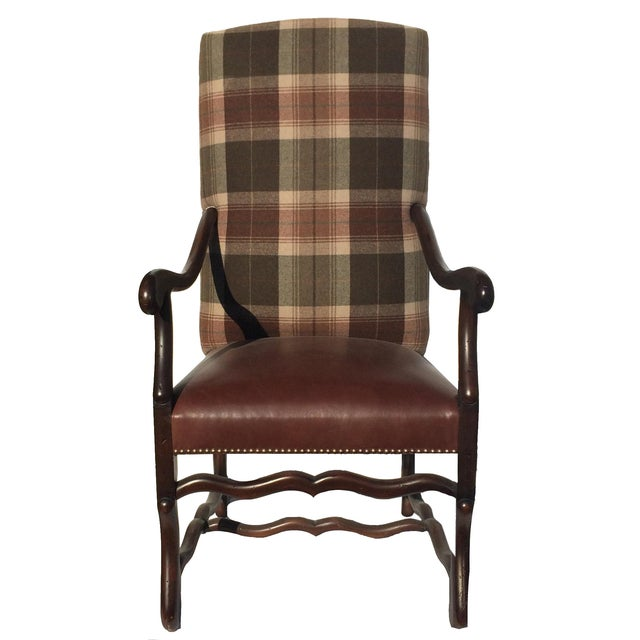 New Pair Country Arm Chairs Ralph Lauren Plaid - Image 1 of 9
