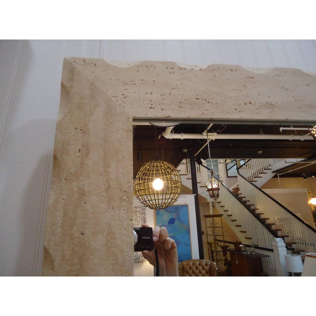 Modern Travertine Mirrors - A Pair - Image 5 of 5