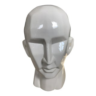 Modernist Cubist Male Statue Head Bust