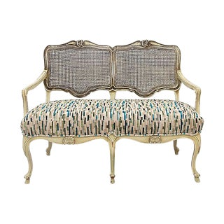 French Provencal Caned Settee