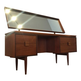 G-Plan Danish Modern Teak Desk / Vanity With Mirror