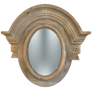Weathered Wood Arched Mirror
